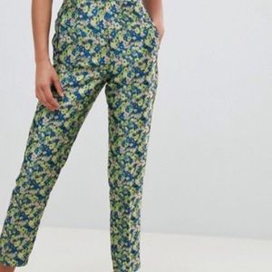 ASOS Floral Mid Rose, mid calf pants